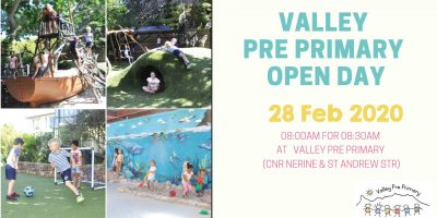 VALLEY OPEN DAY: 28 Feb 2020